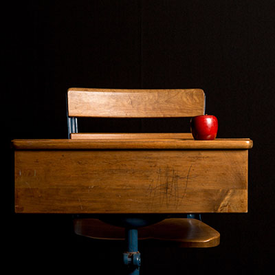 Teacher Development image of old-fashioned school bench
