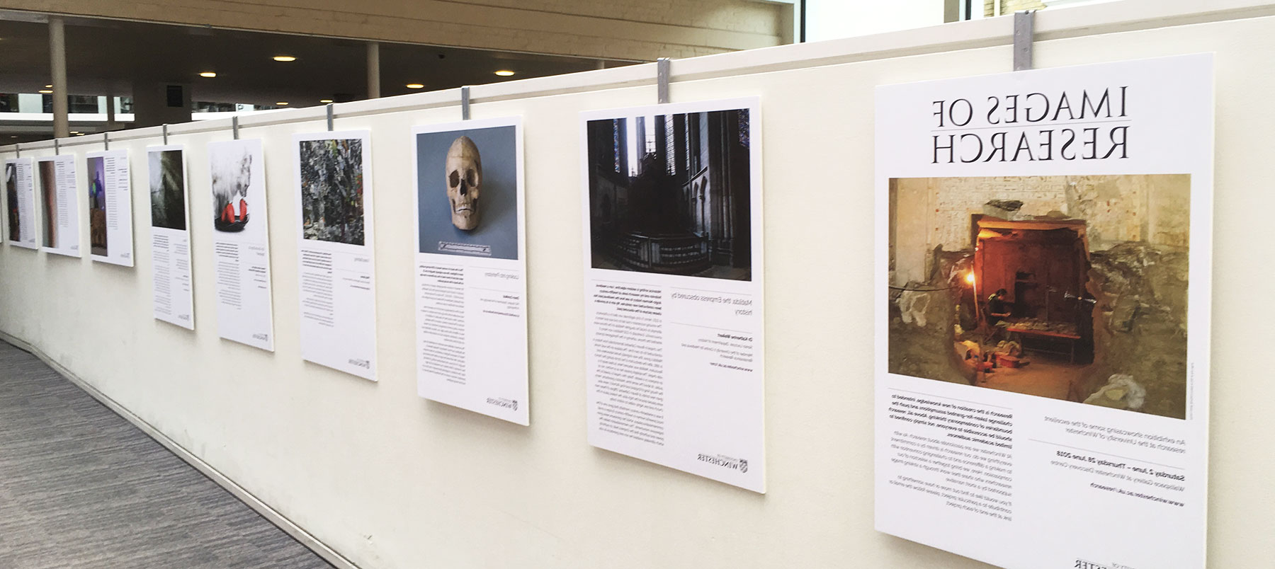 Showcasing research at Winchester: Images of 研究 exhibition 2018 on display in 温彻斯特 发现y Centre